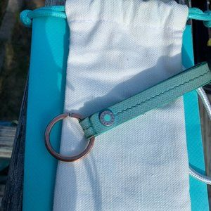 Tiffany & Co Blue Leather Keychain